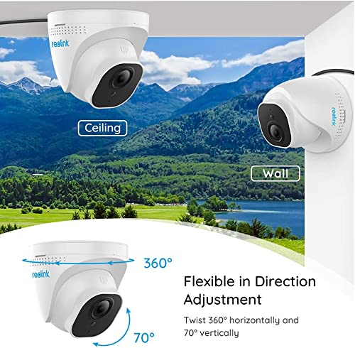 Reolink 4K-Ultra-HD PoE Add-on IP Security Camera Outdoor with Night Vision Motion Detection, ONLY Work with Reolink 8MP PoE Surveillance System and 8-Channel NVR