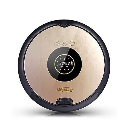 Meyoung Robot Aspirador Inteligente de infrarrojos del mando a distancia anticolisión Aspiración 7 Programado Limpio Modos