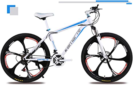 KXDLR Mountain Bikes 26 Inch Mountain Trail Bike High Carbon Steel ...