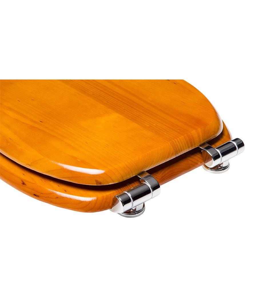 World Map viele sch/öne Holz WC Sitze zur Auswahl hochwertige und stabile Qualit/ät WC Sitz mit Absenkautomatik