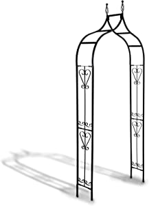 SCENDOR Garden Arches Arbors Metal Durable Iron Trellis Plants Stand with Special Closed Angle Ues for Outdoor Garden Arbor Climbing Plants Wedding Arches Ceremony B 98.5 inch H