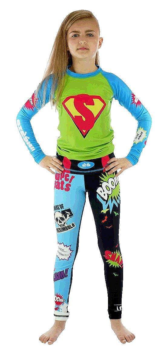 Sicchic Little Girls Super Shirt Rash Guard