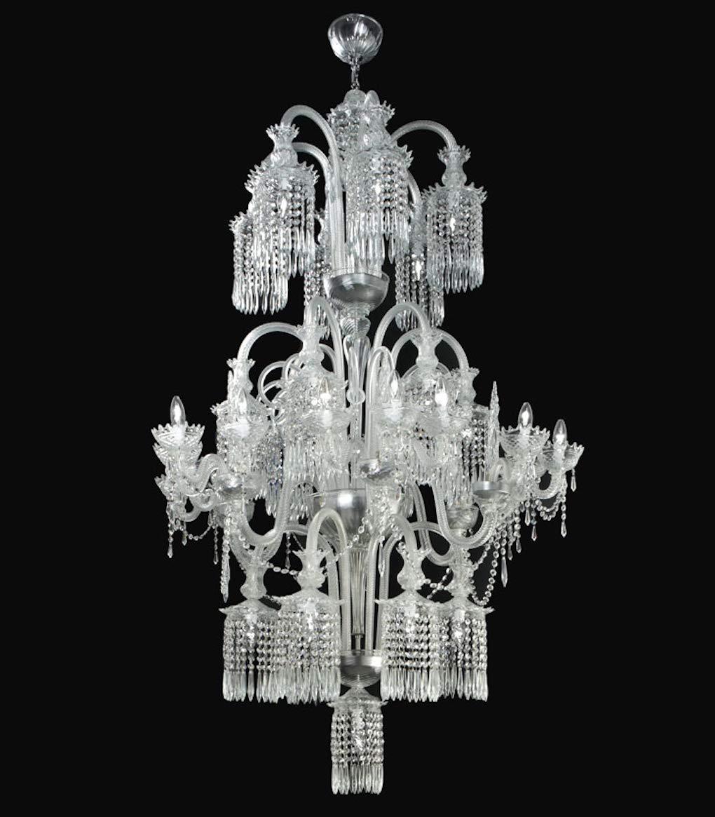 Murano glass chandelier lighting and crystal chandeliers dubai crystal 35 lights modern venetian and italian ceiling light fixtures amazon com