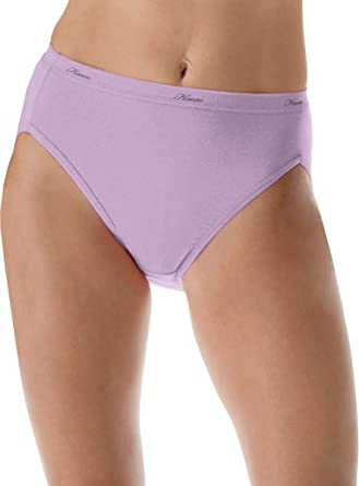 1bd8aac7148d Image Unavailable. Image not available for. Color: Hanes Women's No Ride Up  Cotton Hi-Cut ...