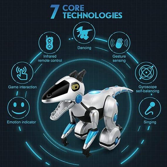 Amazon.es: RCTecnic - Robótica Gyrosaur   Dinosaurio Robot Teledirigido Gestos Inteligente