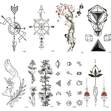 Tatuaje Falso Tatuaje Precioso Brújula Negra Flecha Tatuaje ...
