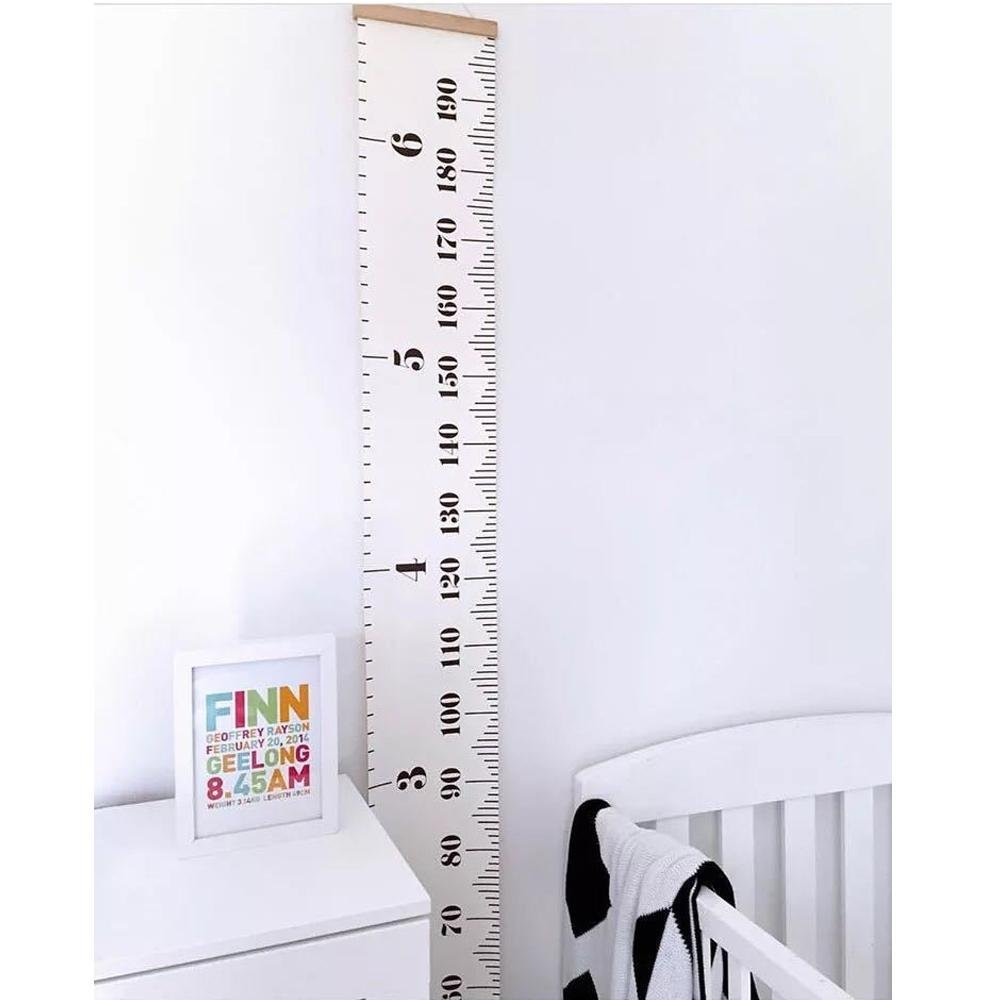 Dulcii Ready To Hang Kids Canvas Height Growth Chart,Measures Babies to Adults(0-79 inches) DU-d0q