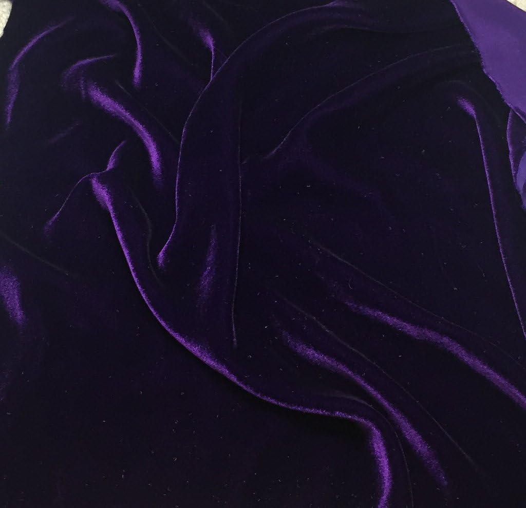 Black Micro Triple Velvet Fabric 45/'/' PRICE PER METER