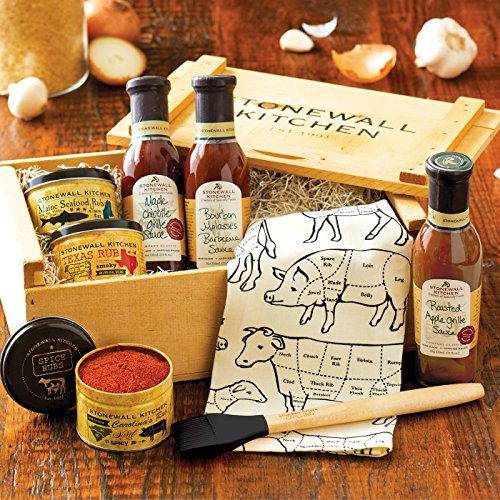 Stonewall Kitchen Grilling Favorites Gift Crate - 8 Piece Gift made in Maine