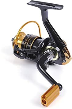 Metal carrete Spinning Pesca Carrete Izquierda/Mano Derecha 12 ...
