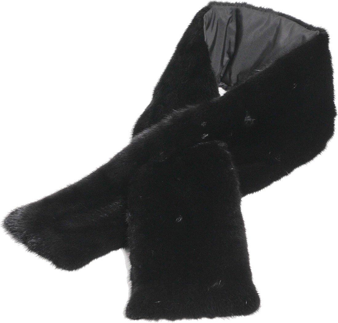 コペンハーゲン ミンク マフラー レディース B075WWDDWS ブラック ブラック