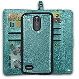 Ymhxcy LG Stylo 3 Wallet Case, LG Stylo 3 Plus Case,LG Stylus 3 Case,PU Leather [9 Card Slots][Detachable][Kickstand] Phone Case & Wrist Lanyard LG LS777-PT Mint