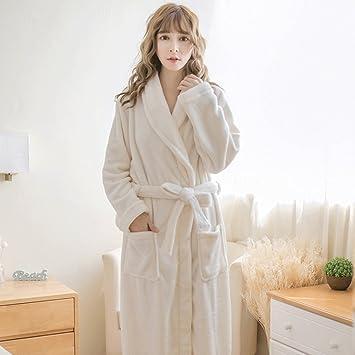 Albornoces Otoño Invierno temporada Señora pijamas de manga larga ropa de casa Sueño bata dulce linda