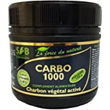SFB Laboratories - Activated Vegetable Carbon Powder - 150 Gram Pot - Aides with digestion and toning your tummy by Sfb laboratoires