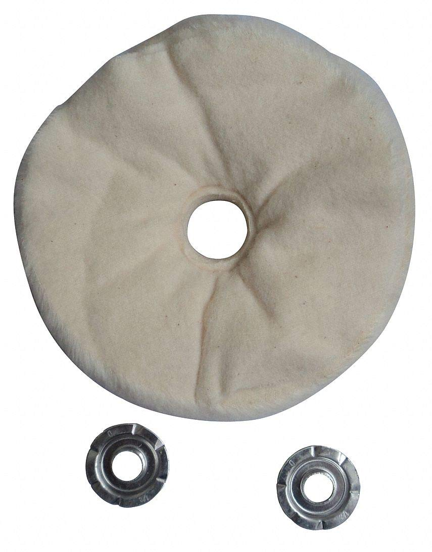 Buffing Wheel, Loose Sewn, 8 In Dia. - pack of 5