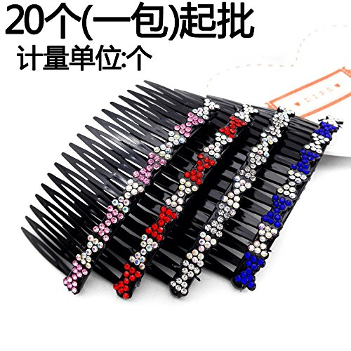3232 full diamond wide comb yoke 20 is inserted from comb hair accessories hairpin Yiwu 2 yuan two yuan shop selling for women girl lady