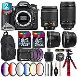 Holiday Saving Bundle for D7100 DSLR Camera + AF 70-300mm G Lens + AF-P 18-55mm + 6PC Graduated Color Filter Set + 2yr Extended Warranty + 32GB Class 10 Memory Card - International Version