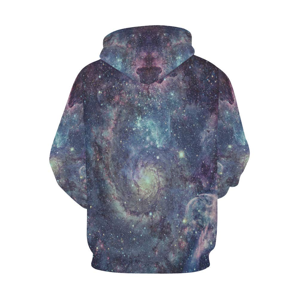 INTERESTPRINT Abstract Nebula Galaxy in Outer Space Long-Sleeve All Over Print Mens Hoodie