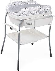 Chicco Cuddle&Bubble - Bañera cambiador compacta 2en1, 10 kg, color gris (Cool Grey)