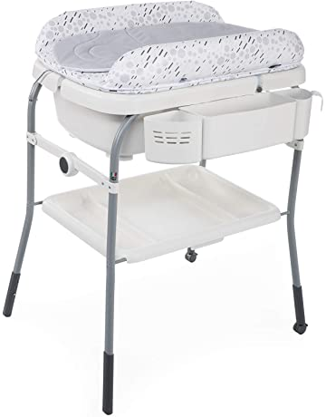 Chicco Cuddle&Bubble - Bañera cambiador compacta 2en1, 10 kg, color gris (Cool Grey