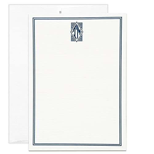 Amazon Com Mens Stationery Personalized Monogram Thank You Notes