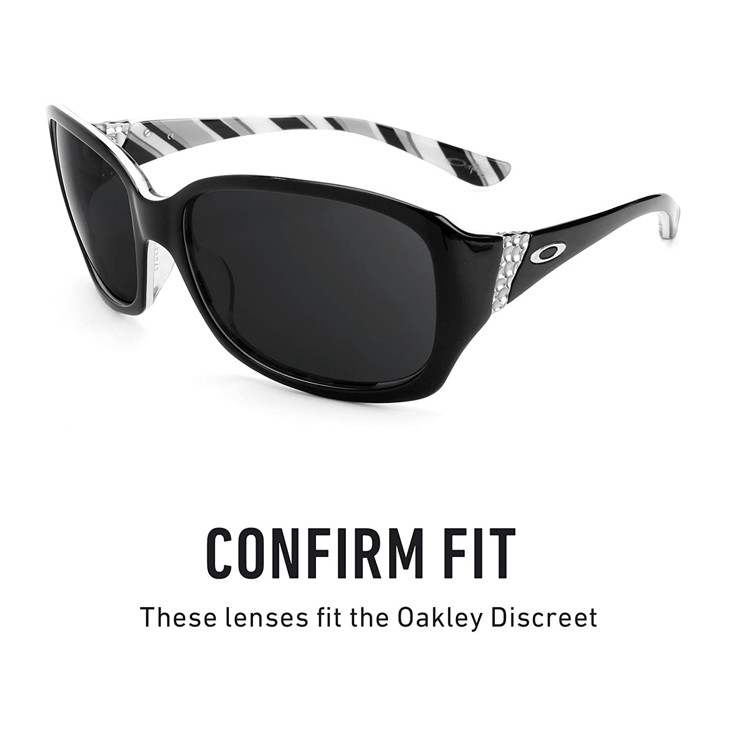 95a24da721 Revant Polarized Replacement Lenses for Oakley Discreet Elite Black Chrome  MirrorShield®  Amazon.co.uk  Clothing