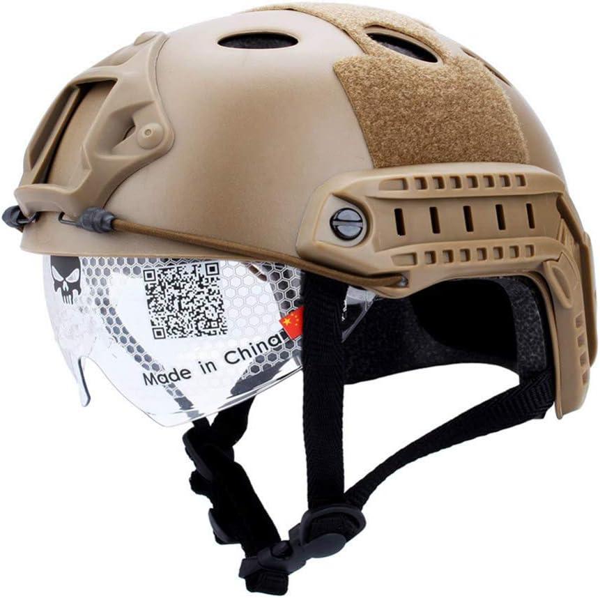 Neborn Material Ligero Resistente Casco Gafas edición Militar Airsoft Casco Paintball máscara Facial para Casco rápido