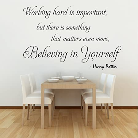 Working Hard Is Important (Harry Potter)   Wall Decal Quote Sticker Lounge  Kitchen Dining