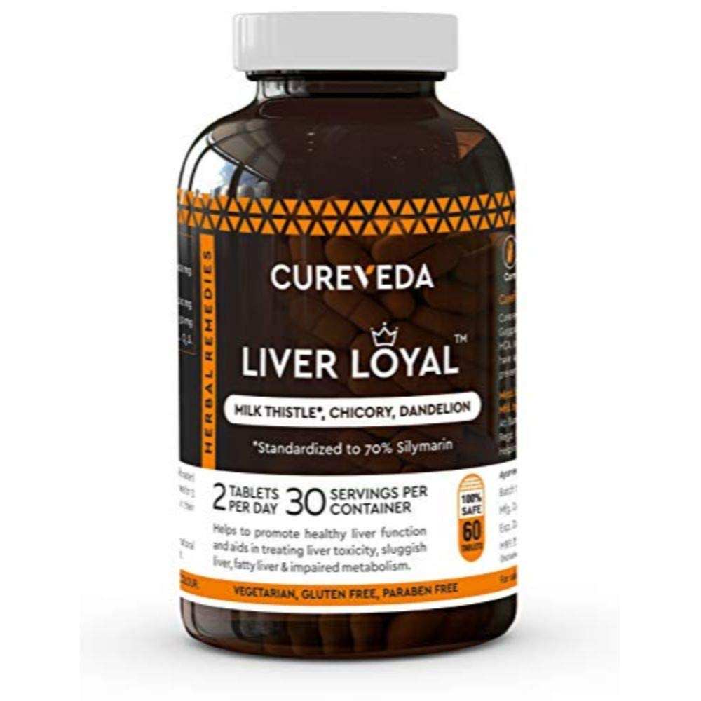 Cureveda™ Herbal Liver Loyal- Milk Thistle For Healthy Liver Function and for promoting healthy digestion and natural…