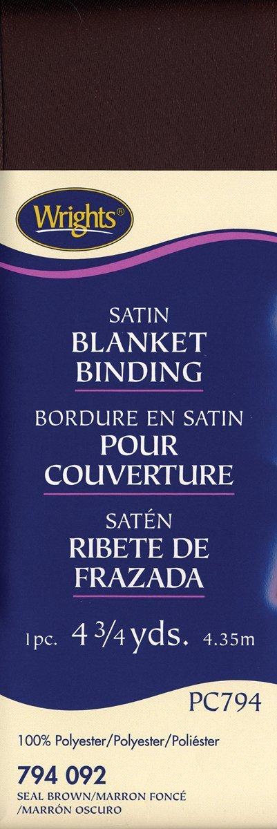 Bark Wrights 117-794-1236 Single Fold Satin Blanket Binding 4.75-Yard