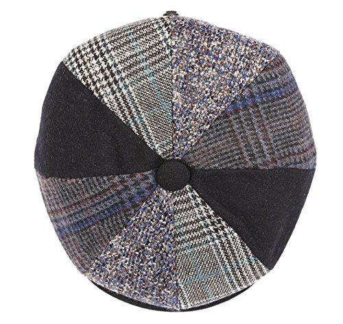 Sakkas NSB1911 - Jay Gatsby 8 Panel Wool Newsboy Paperboy Snap Brim Cap Hat - Navy - M ()