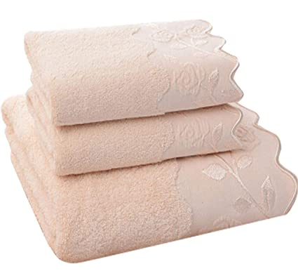 Toalla Absorbente de algodón de Color sólido Juego de Regalo de Toalla de baño de Tres