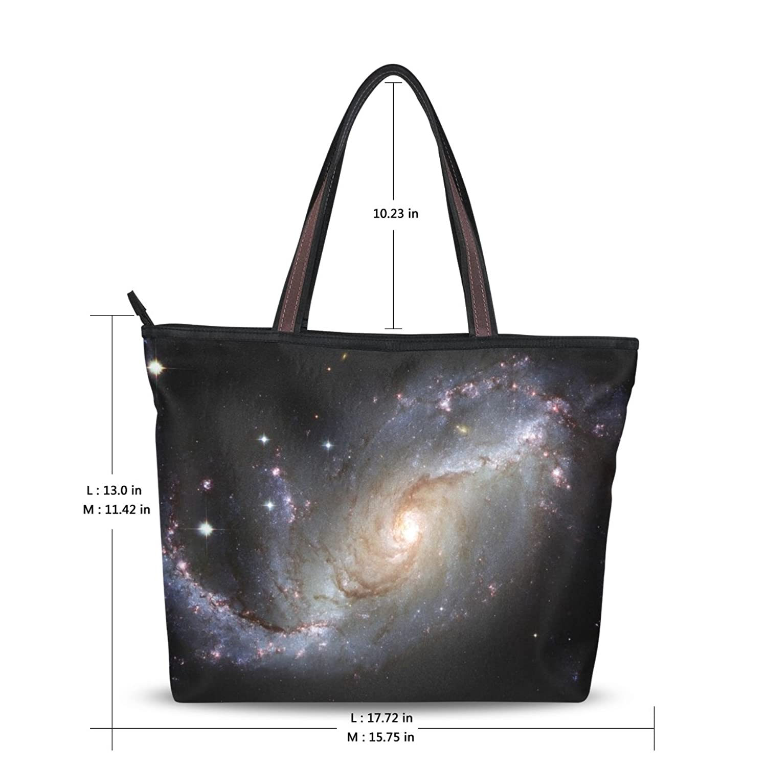 Women Large Tote Top Handle Shoulder Bags Galaxy Ladies Handbag