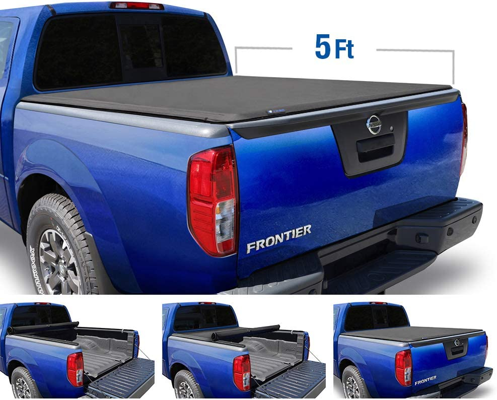 Tyger Auto T1 Soft Roll Up Truck Bed Tonneau Cover (2005-2020 Nissan Frontier)