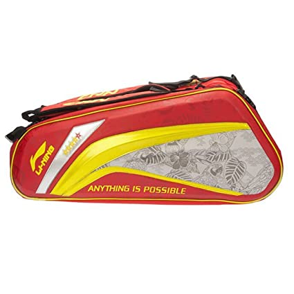 22d99435136c Buy Li-Ning ABJL066 Badminton Kit Bag Colour-Red Online at Low Prices in  India - Amazon.in