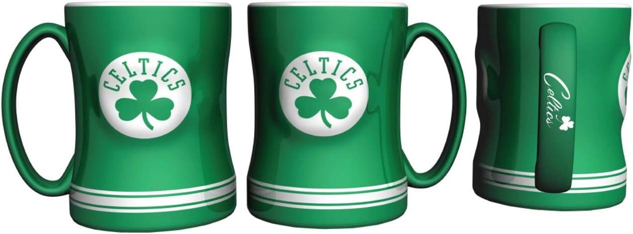 Boelter Brands Coffee Mug Boston Celtics Coffee Mug 14oz Sculpted Relief