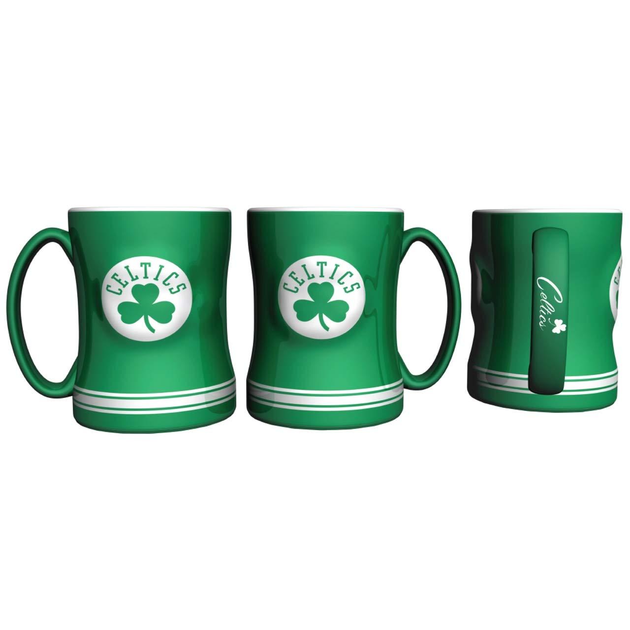 Team Color Boelter Brands NBA Boston Celtics Coffee Mug14oz Sculpted Relief 14 Ounce