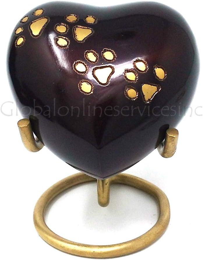 Pet Mini Keepsake Urns For Ashes UK Heart Black Pewter Brass Cremation Urns Memorial Urns