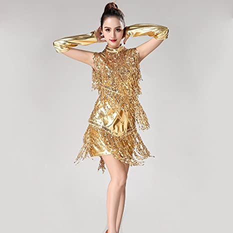 Xueyanwei Mujeres Clásicas Danza Latina Falda Tango Falda ...