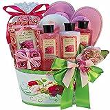 So Serene Peony Spa Bath and Body Gift Basket Set