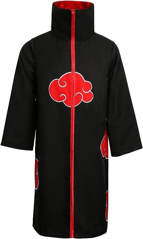 NUWIND Unisex Akatsuki Itachi Cloak Gown Cosplay Disfraz Collar ...