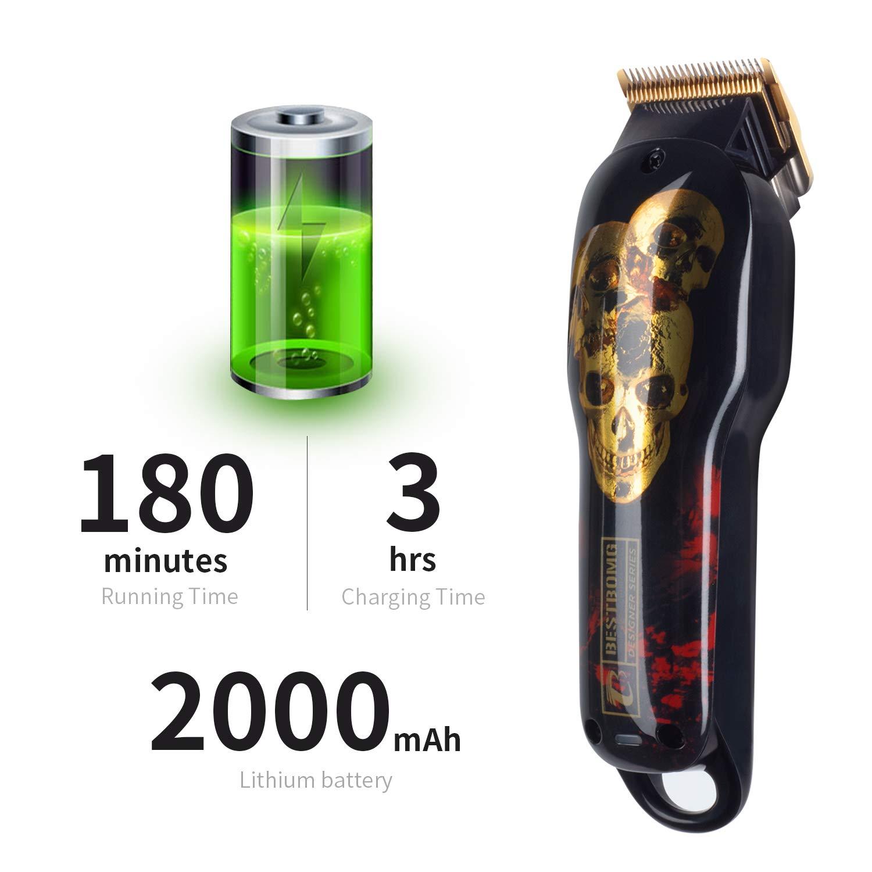 Cordless Rechargeable Hair Clippers for Men Built-in 2000mAh Lithium Ion Professional Barber Supplies Hair Trimmer Hair Cutting Machine (Hair clipper)