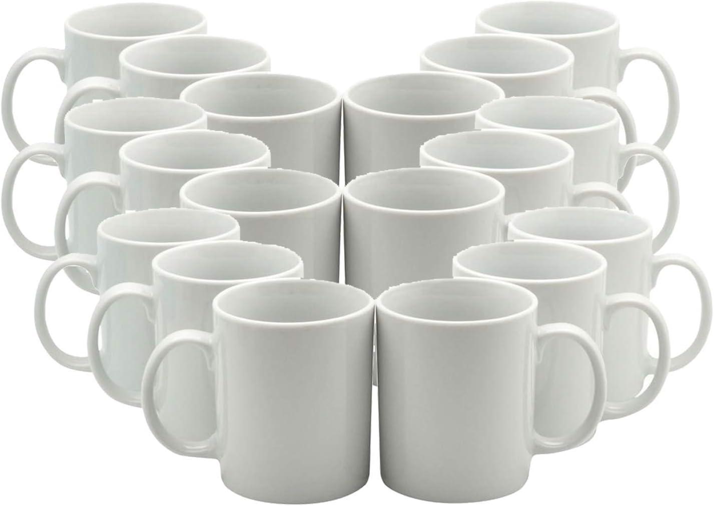 36 tazas de sublimación blancas, 325 ml, mango pequeño, con cajas de regalo gratis.: Amazon.es: Hogar