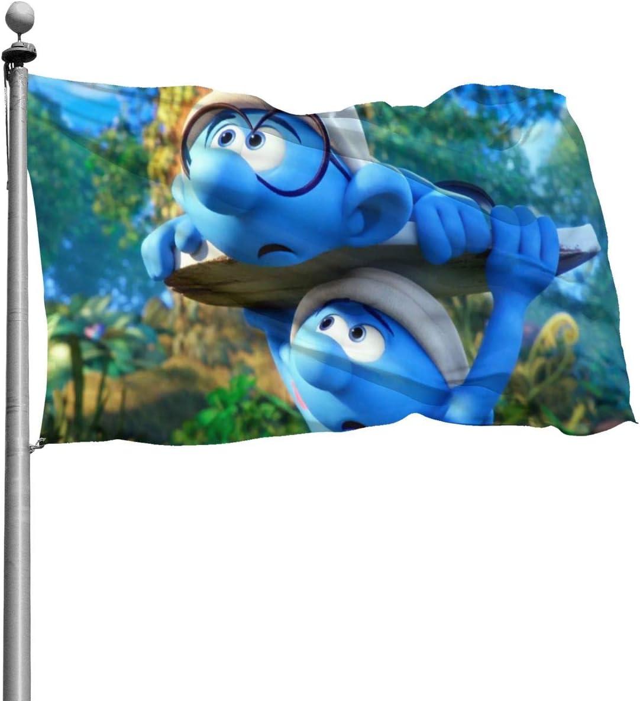 NOT The Smurfs Outdoor Garden Decoration Flag。