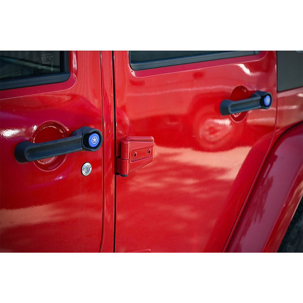 vintage car door handle. Amazon.com: Car Door Exterior Button Cover Trim Grab Handle Knobs Push For Jeep Wrangler 2007-2017 (4 Door, Pentagram-Blue): Automotive Vintage