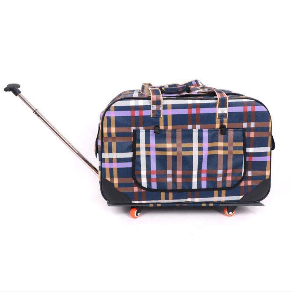 C Dog Out Bag Four-Wheel Folding Trolley Case Cat Pet Stroller Breathable Cat Dog Suitcase,C