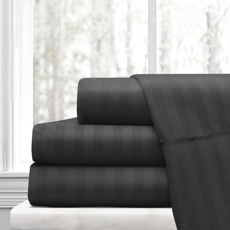 Ras Decor Linen TOP Split Queen 100% Cotton 600 Thread Count, Split Head Bed Sheet Set - 1 Fitted Sheet with 32
