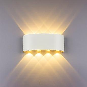 Led Modern Wandleuchte Innen 8w Weiss Wandlampe Licht Up Down