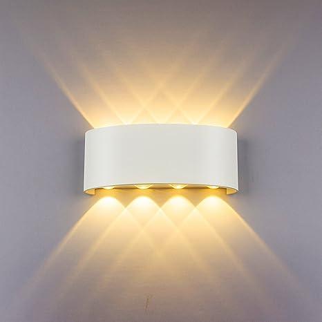 Lampade da Parete Moderne 8W LED Applique da Parete in Alluminio ...