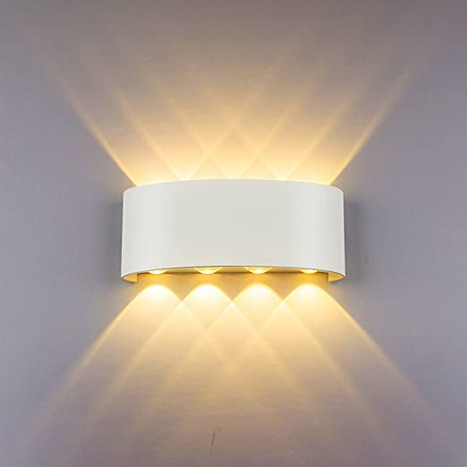 Modern Wall Light 8W White LED Sconce Up Down Wall Lamp Aluminium LED  Waterproof Spot Light